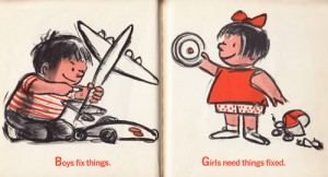 "Illustration from the 1970 book ""I'm Glad I'm a Boy!: I'm Glad I'm a Girl!"""