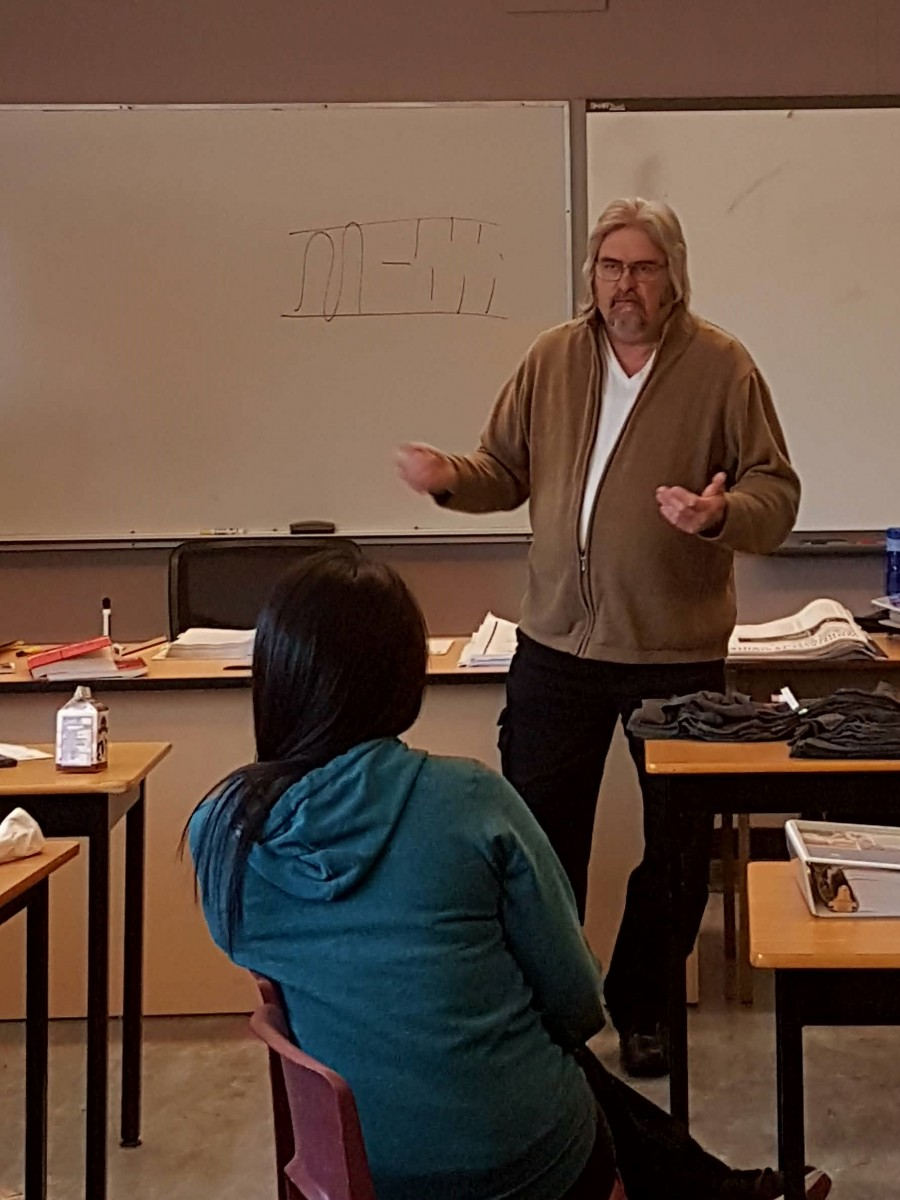 Step BC's Norman Humprey talks to Foundation students about resources available for them